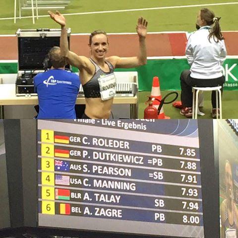 ISTAAF Indoor Cindy Roleder Quelle: Facebook Cindy Roleder