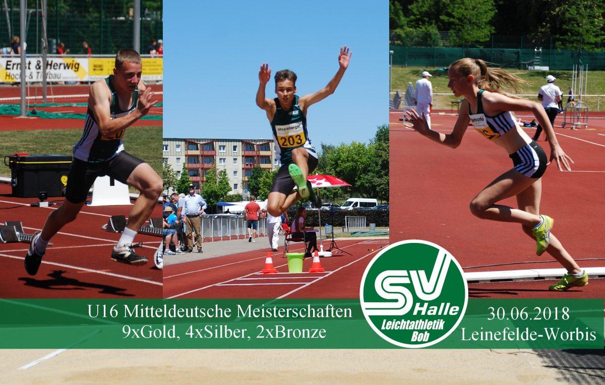 Gärtner, Beuchelt, Körner bei MDM U16 in Leinefelde am 30.06.2018 - Fotos M.Körner