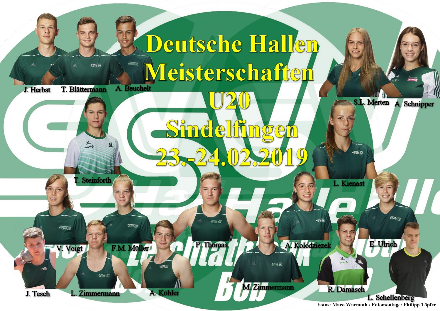 2019.02.23 U20 HDM Sindelfingen - Fotos Marco Warmuth - Collage Philipp Töpfer
