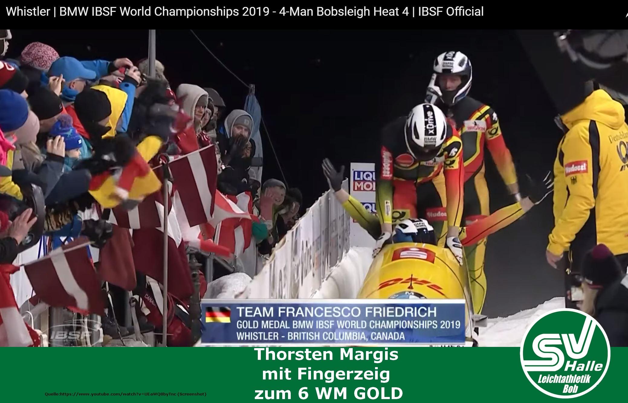 2019.03.10 - Thorsten Margis mit Fingerzeig zum 6 WM gold - screenshot youtube https://www.youtube.com/watch?v=UEaWQ8byTnc