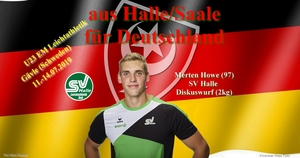 2019.07.11 - U23 EM in Gävle - Merten Howe Diskuswurf