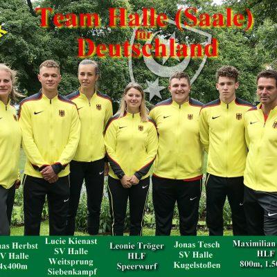 2019.07.16 - U20 EM Boras Team Halle - Foto Lars Albert - Fotocollage Philipp Töpfer