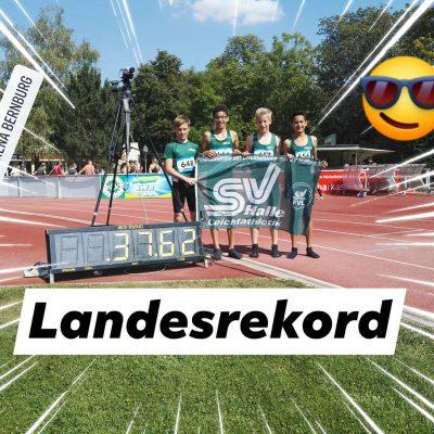 2019.08.24 U14 Staffel Landesrekord