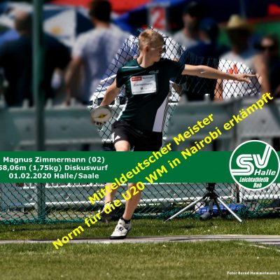 2020.02.01 - Magnus Zimmermann überragender Diskuswk