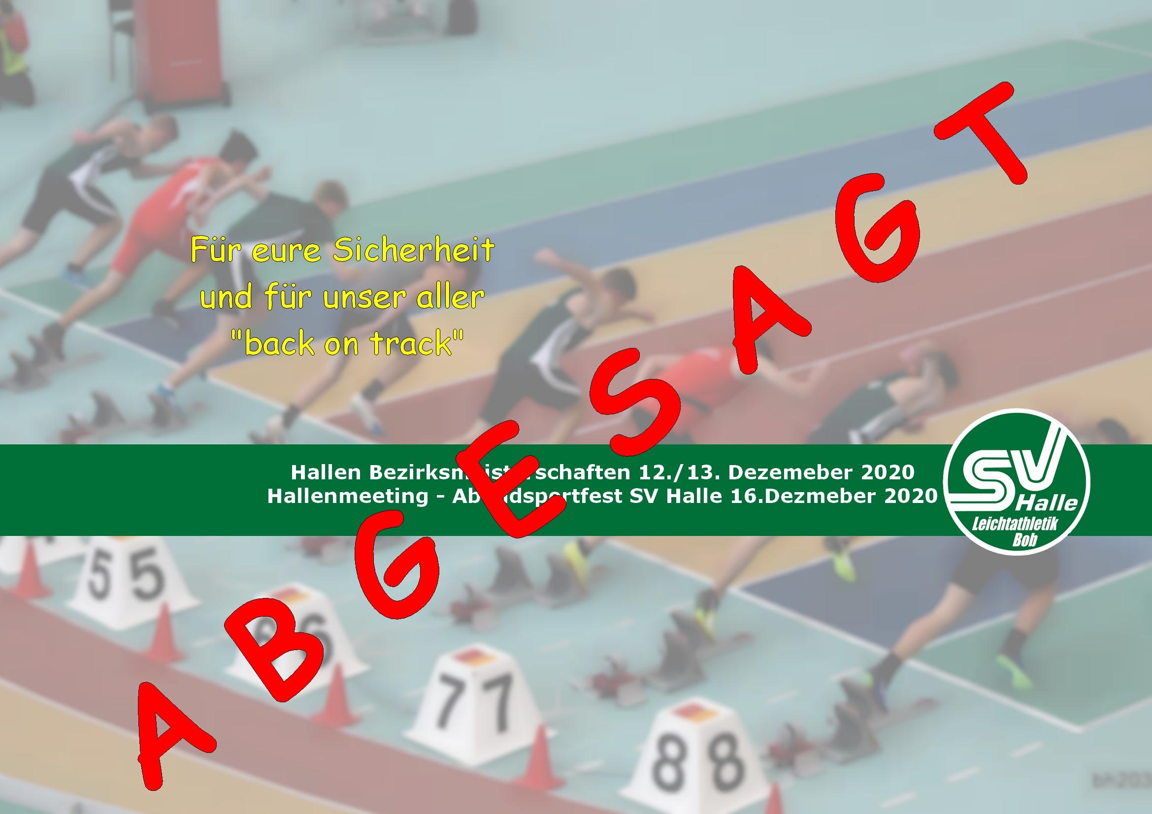 2020.11.12 - Absage Hallen Wettkämpfe 2020